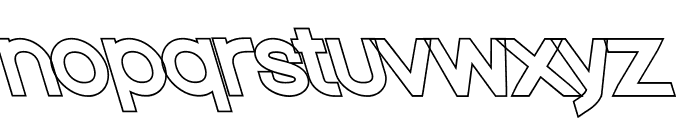 Nordica Classic Regular Extended Opposite Oblique Outline Font LOWERCASE