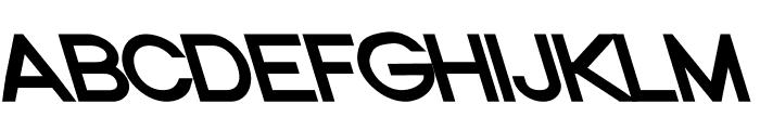 Nordica Classic Regular Extended Opposite Oblique Font UPPERCASE