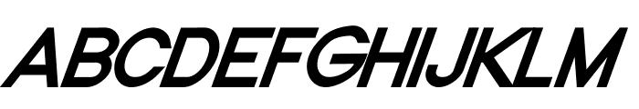 Nordica Classic Regular Oblique Font UPPERCASE