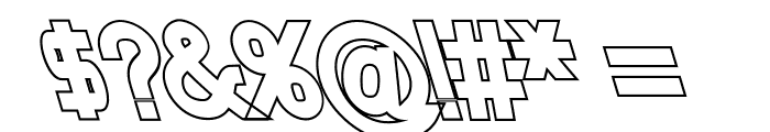 Nordica Classic Regular Opposite Oblique Outline Font OTHER CHARS