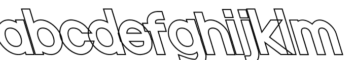Nordica Classic Regular Opposite Oblique Outline Font LOWERCASE