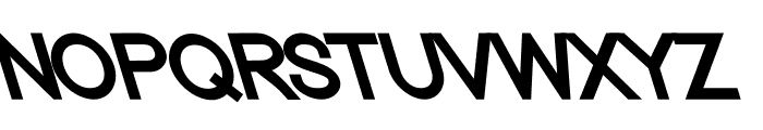 Nordica Classic Regular Opposite Oblique Font UPPERCASE