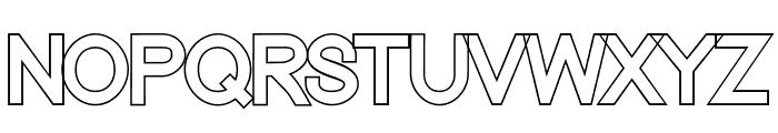 Nordica Classic Regular Outline Font UPPERCASE