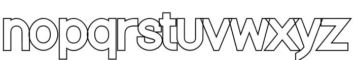 Nordica Classic Regular Outline Font LOWERCASE