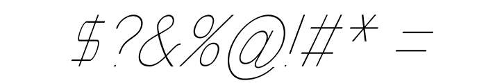 Nordica Classic Ultra Light Condensed Oblique Font OTHER CHARS