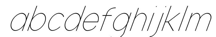 Nordica Classic Ultra Light Condensed Oblique Font LOWERCASE