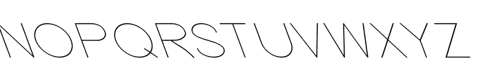 Nordica Classic Ultra Light Extended Opposite Oblique Font UPPERCASE
