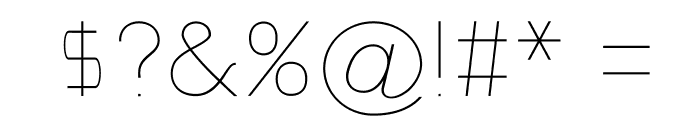Nordica Classic Ultra Light Extended Font OTHER CHARS