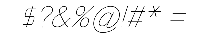Nordica Classic Ultra Light Oblique Font OTHER CHARS