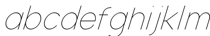 Nordica Classic Ultra Light Oblique Font LOWERCASE