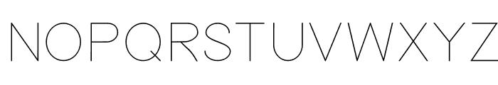 Nordica Classic Ultra Light Font UPPERCASE