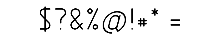Nordica  Light Font OTHER CHARS
