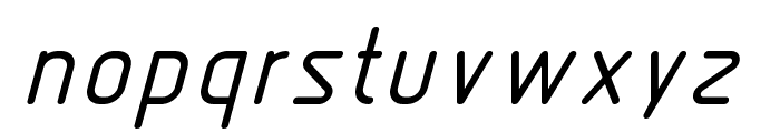 Nordica  LightItalic Font LOWERCASE
