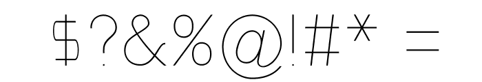 NordicaHairline Font OTHER CHARS