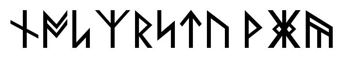 Norse Code Regular Font LOWERCASE
