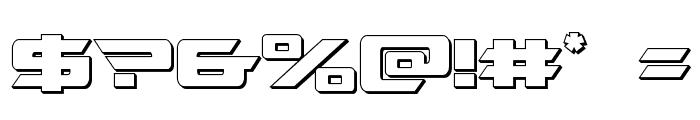 Northstar 3D Regular Font OTHER CHARS