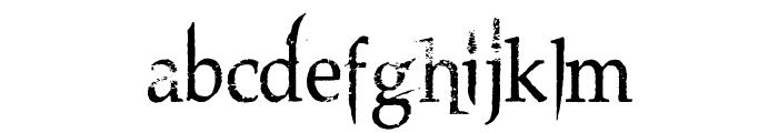 Northwood High Font LOWERCASE