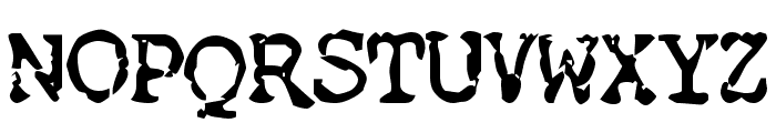 Nose Bleed Font UPPERCASE