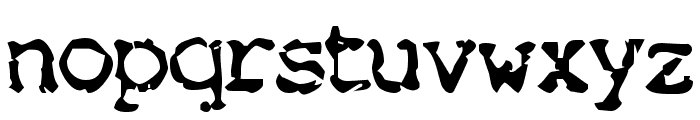 Nose Bleed Font LOWERCASE