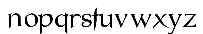 Nosfer Font LOWERCASE