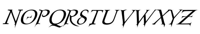 Nosferatu Oblique Font UPPERCASE