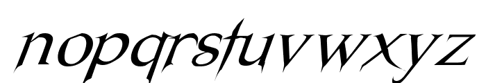 Nosferatu Oblique Font LOWERCASE
