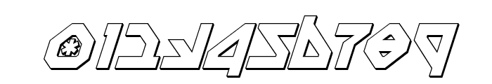Nostromo 3D Italic Font OTHER CHARS