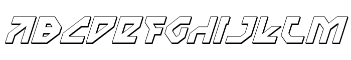 Nostromo 3D Italic Font UPPERCASE