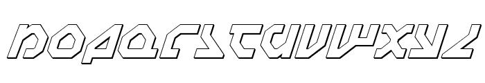 Nostromo 3D Italic Font LOWERCASE