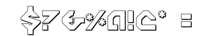 Nostromo 3D Font OTHER CHARS