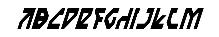 Nostromo Condensed Italic Font UPPERCASE