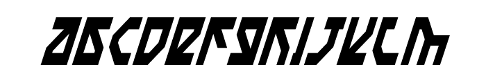 Nostromo Condensed Italic Font LOWERCASE