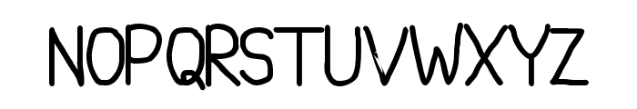 NotBrokenJustBent Font UPPERCASE