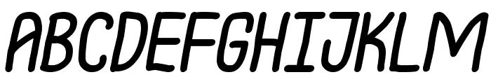 Notarized Openly Script Oblique Font UPPERCASE