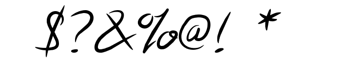 Note this Font OTHER CHARS
