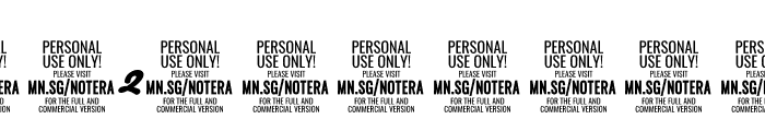 Notera 2 PERSONAL USE ONLY Black Font OTHER CHARS