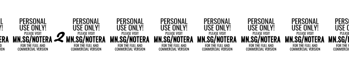 Notera 2 PERSONAL USE ONLY Bold Font OTHER CHARS