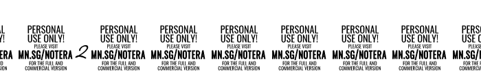 Notera 2 PERSONAL USE ONLY Light Font OTHER CHARS