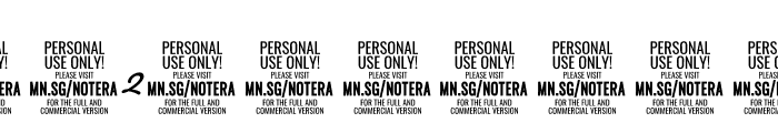 Notera 2 PERSONAL USE ONLY Medium Font OTHER CHARS