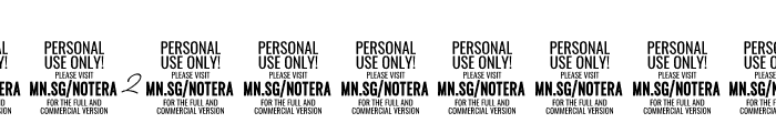 Notera 2 PERSONAL USE ONLY Thin Font OTHER CHARS