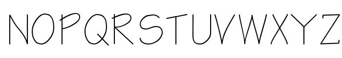 Notetaker Font UPPERCASE