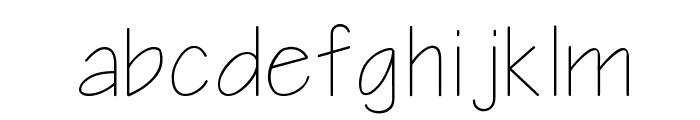 Notetaker Font LOWERCASE