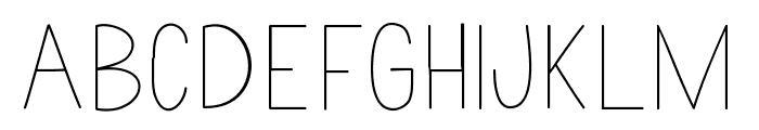 Nothing Special Font UPPERCASE