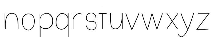 Nothing Special Font LOWERCASE