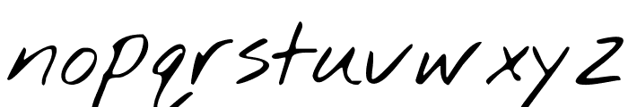 Nothing You Could Do Font LOWERCASE
