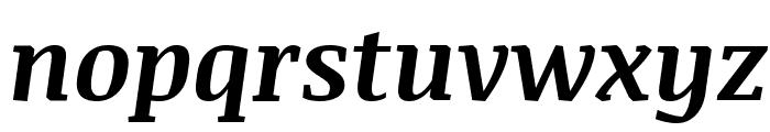 Noticia Text Bold Italic Font LOWERCASE