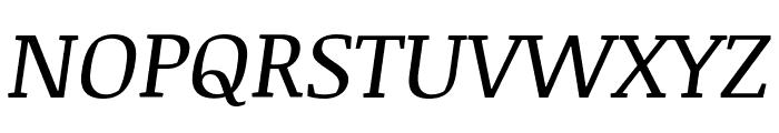 Noticia Text Italic Font UPPERCASE