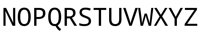 Noto Mono Font UPPERCASE
