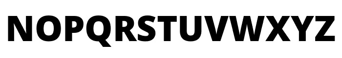 Noto Sans Black Font UPPERCASE