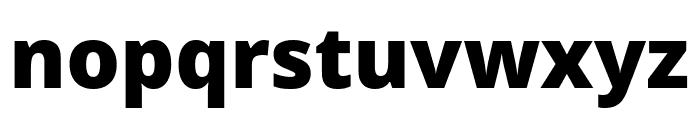 Noto Sans Black Font LOWERCASE